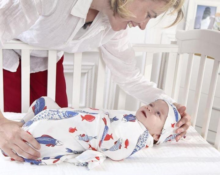 Cotton Newborns Swaddle Blanket With a Hat MaBabyPro
