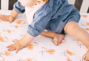 Flamingo Cotton Baby Muslin Swaddle