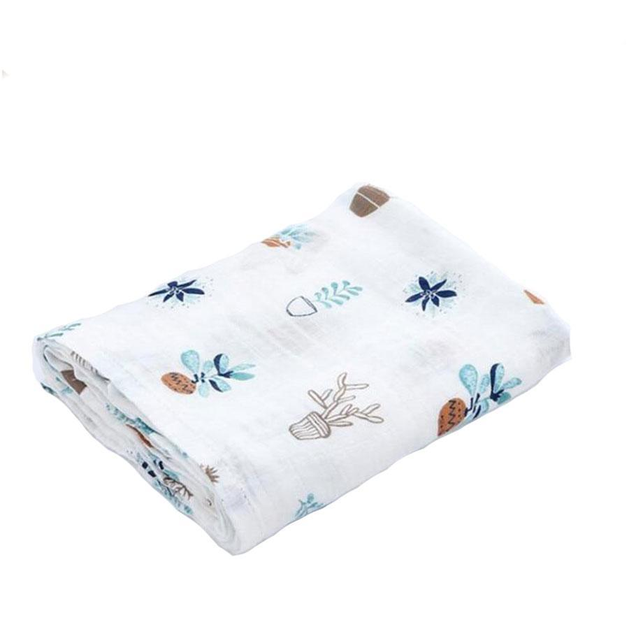 Cactus Cotton Baby Muslin Swaddle