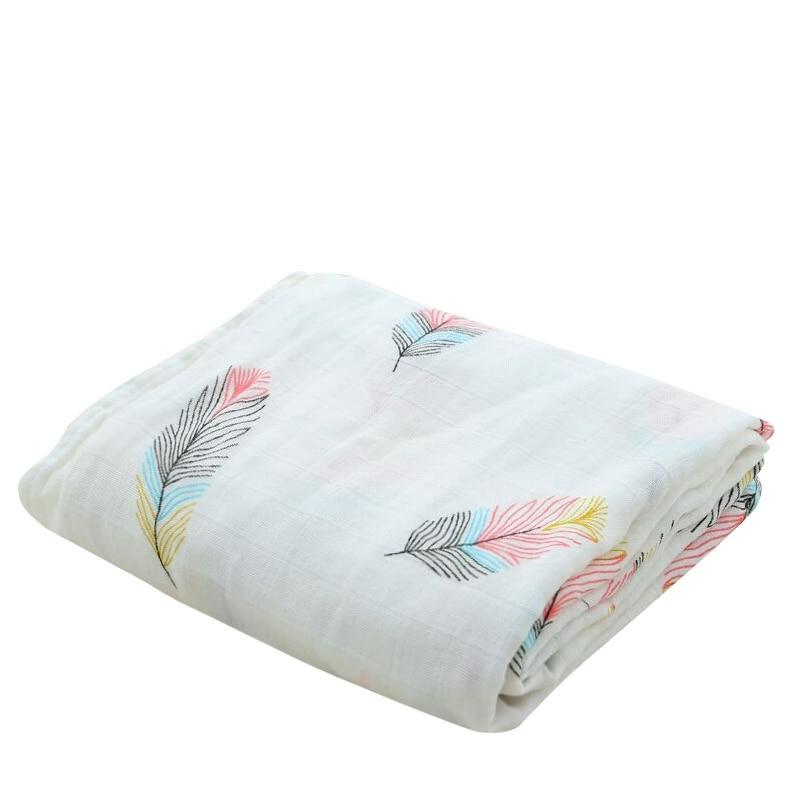 Feather Cotton Baby Muslin Swaddle