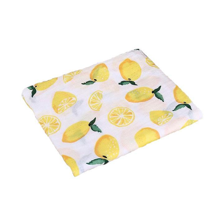 Lemon Cotton Baby Muslin Swaddle