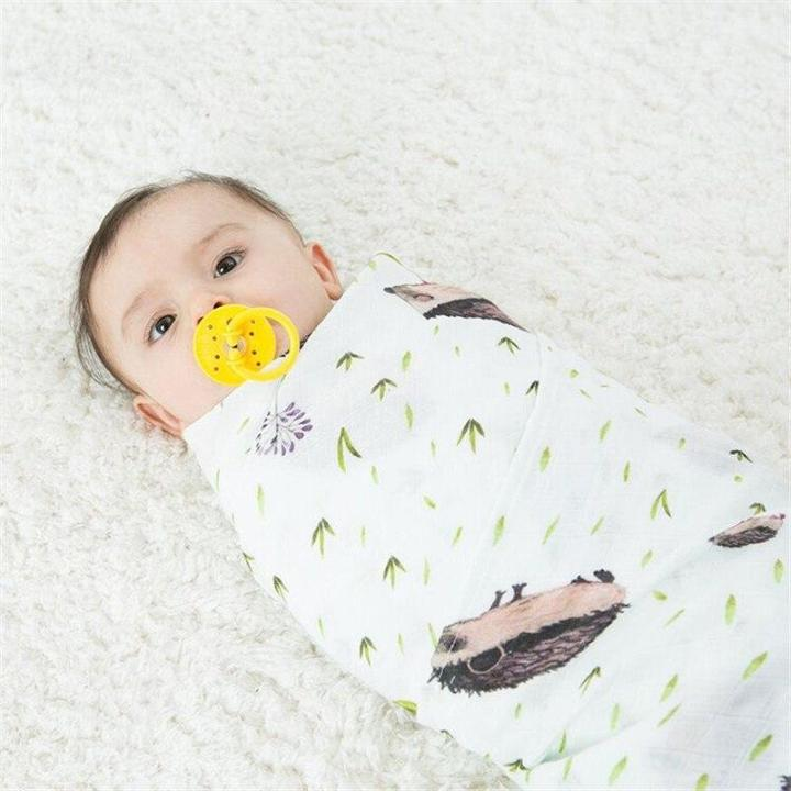 Hedgehog Cotton Soft Baby Muslin Swaddle Blanket MaBabyPro