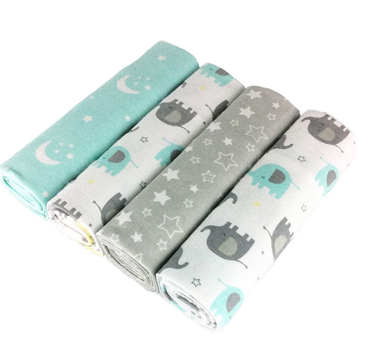 Elephant Set Baby Crib Sheet (4 PCS)