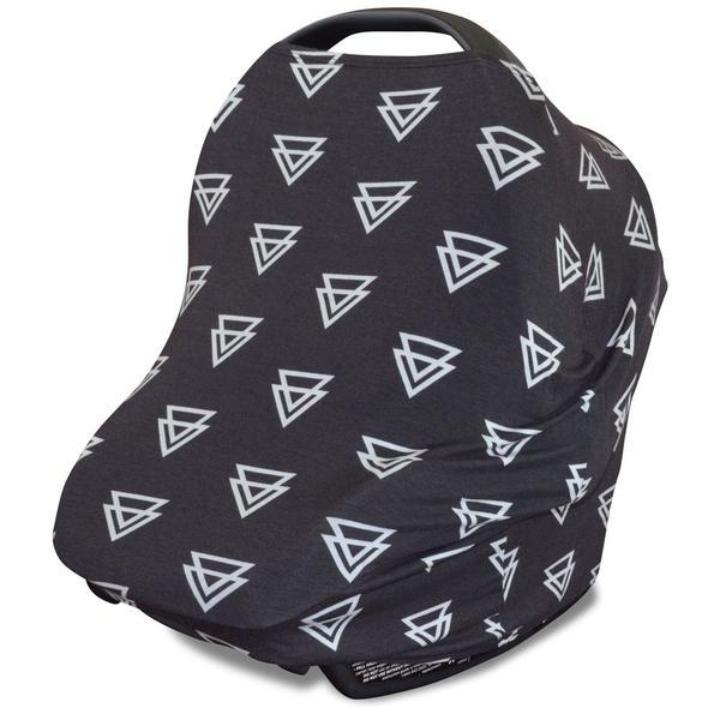 Black Triangle Print Baby Car Seat Cover