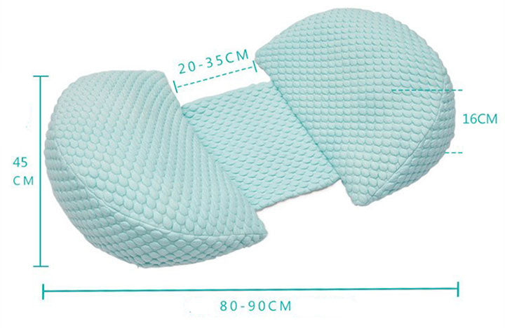MaBaybyPro Adjusted Side Sleeping pregnancy Pillow