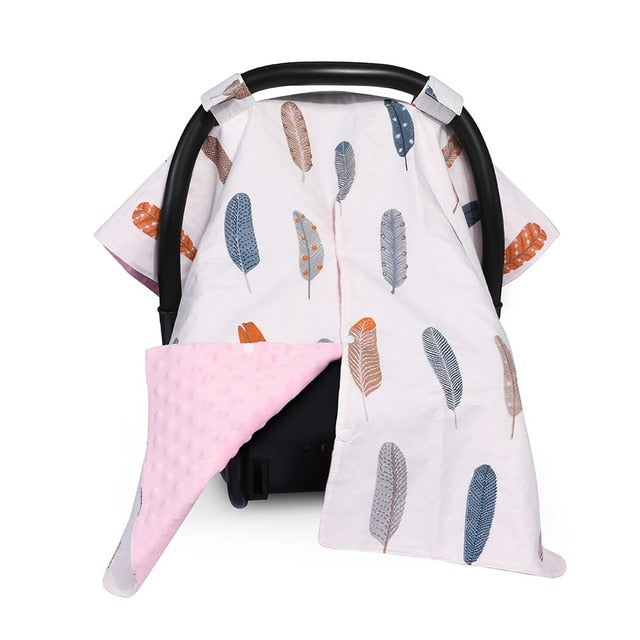 Feather Car Seat Canopy Cover