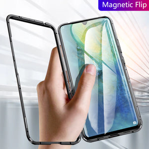 Galaxy A70 Electronic Auto-Fit Magnetic Transparent Glass Case