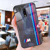 OnePlus 6T 3D Carbon Fiber Pattern Glass Case