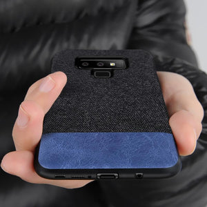 Galaxy Note 9 Two-tone Leather Textured Matte Case
