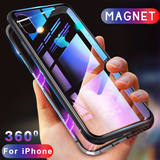 iPhone XS Max Electronic Auto-Fit Magnetic Transparent Glass Case
