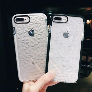 iPhone 7 Luxury Geometric Liquid Diamond Shockproof Case