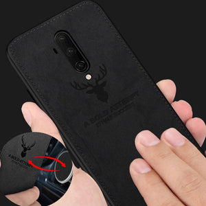 OnePlus 7T Pro (3 in 1 Combo) Deer Case + Tempered Glass + Earphones