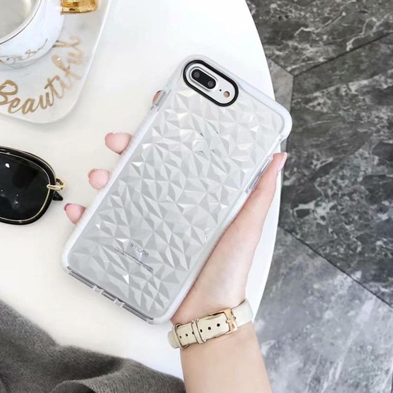 iPhone 8 Luxury Geometric Liquid Diamond Shockproof Case