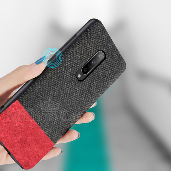 OnePlus 7 Pro Two-tone Leather Textured Matte Case