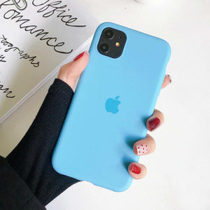 iPhone 11 Pro Max Liquid Silicone Logo Case