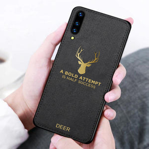 Galaxy A50 Luxury Gold Textured Deer Pattern Soft Case
