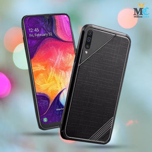Galaxy A50 Check Pattern Soft TPU Case