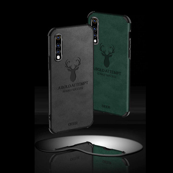 Galaxy A70 Shockproof Deer Leather Texture Case