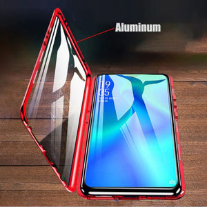 Galaxy A70 Electronic Auto-Fit (Front+ Back) Glass Magnetic Case