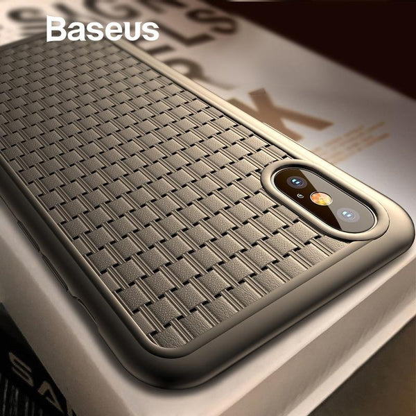 Baseus ® iPhone X/XS Knitted Breathing Soft Case