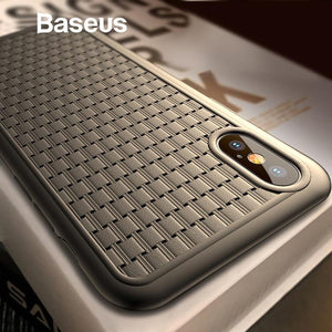Baseus ® iPhone X Knitted Breathing Soft Case