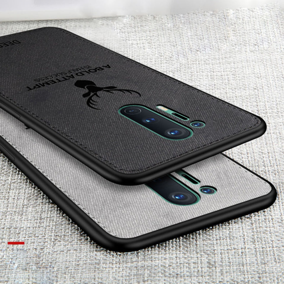 OnePlus 8 Pro (3 in 1 Combo) Deer Case + Tempered Glass + Earphones