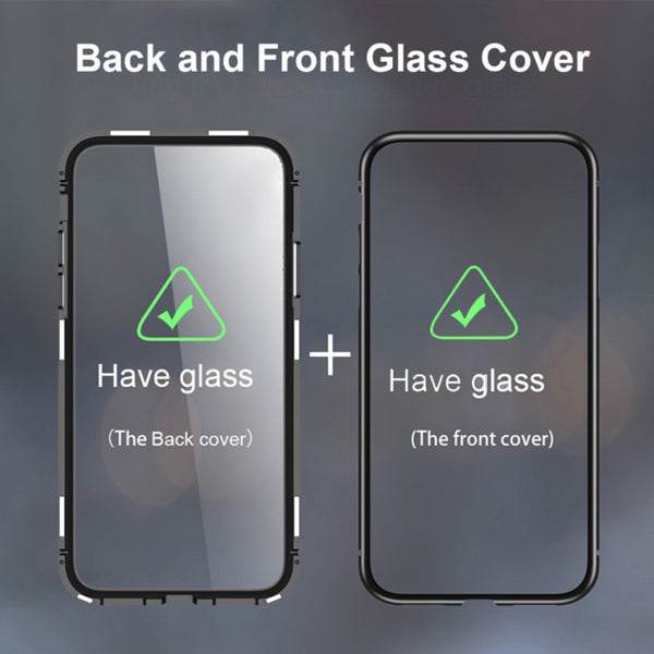 Luphie ® Galaxy S10 Plus Auto-Fit (Front+ Back) Glass Magnetic Case