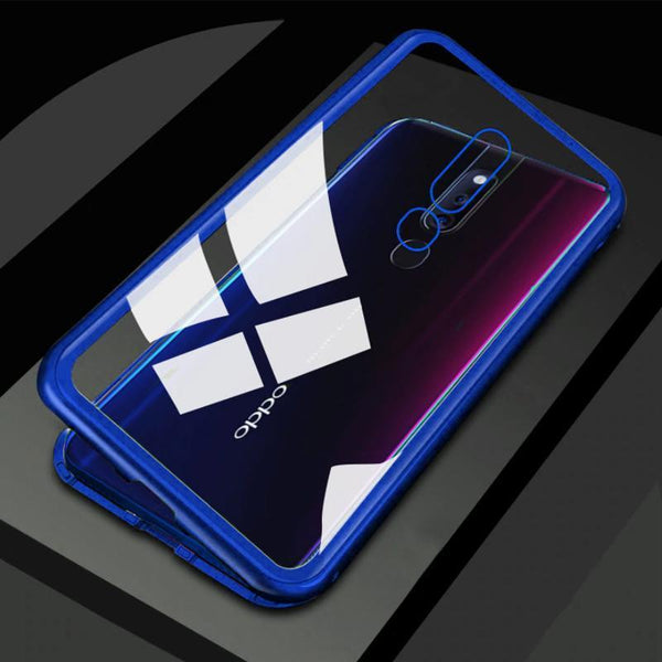 Oppo F11 Pro Electronic Auto-Fit Magnetic Transparent Glass Case