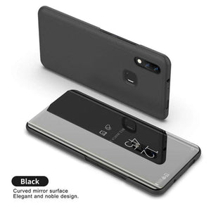 Redmi Note 7S Mirror Clear View Flip Case [Non Sensor Working]