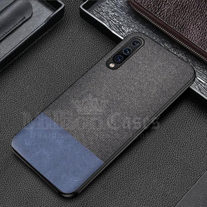 Galaxy A50 Two-tone Leather Textured Matte Case