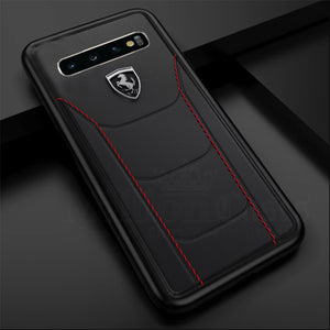 Ferrari ® Galaxy S10 Plus Genuine Leather Crafted Limited Edition Case