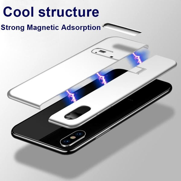 iPhone X Auto-Fit Magnetic Colour Contrast Kickstand Case
