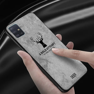 Galaxy A71 Deer Pattern Inspirational Soft Case (3-in-1 Combo)