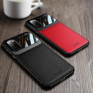 Galaxy S20 Sleek Slim Leather Glass Case