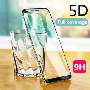Galaxy A8 Plus Original 5D Curved Edge Tempered Glass