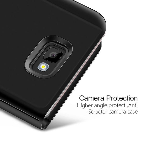 Galaxy A9 Pro Mirror Clear View Flip Case [Non Sensor working]