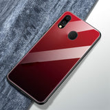 Galaxy M20 Gradient Soft Edge Glass Back Case