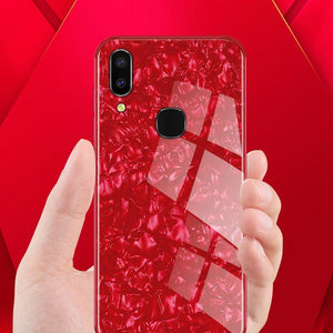 Galaxy M20 Dream Shell Textured Marble Case