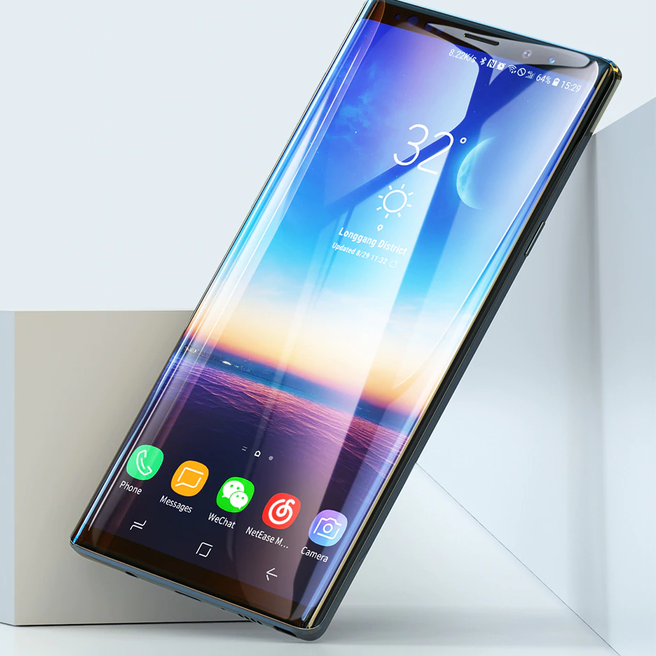 Galaxy Note 9 Curved Edge Tempered Glass
