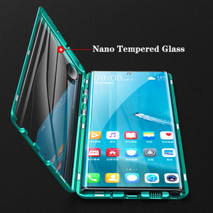 Galaxy Note 10 Plus  Electronic Auto-Fit (Front+ Back) Glass Magnetic Case