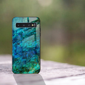 Galaxy S10 Soothing Sea Pattern Marble Glass Back Case