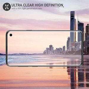 Galaxy S10 Plus 5D Tempered Glass Screen Protector [With In-Display Fingerprint Sensor]