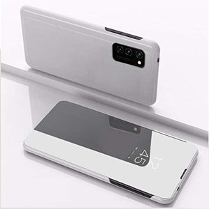 Galaxy S20 Mirror Clear View Flip Case [Non Sensor Working]