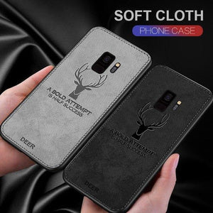 Galaxy A8 Plus Deer Pattern Inspirational Soft Case