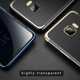 Galaxy C9 Pro Electroplating Silicone Transparent Glitter Case