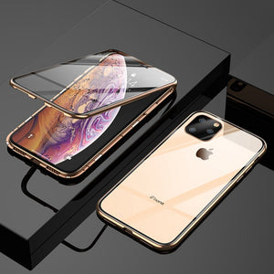 iPhone 11 Series Electronic Auto-Fit (Front+ Back) Glass Magnetic Case