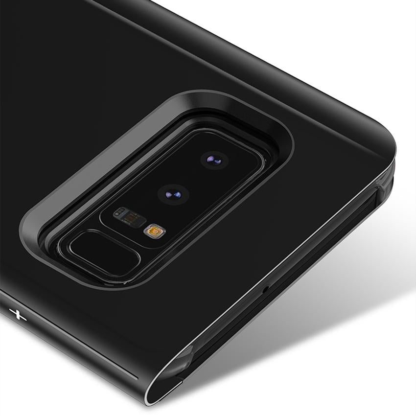 Galaxy Note 8 Mirror Clear View Flip Case [Non Sensor Working]