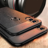 Galaxy M20 Auto Focus Leather Texture Case