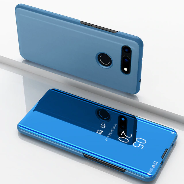 Honor View V20 Clear View Mirror Standing Flip Case [Non Sensor Working]