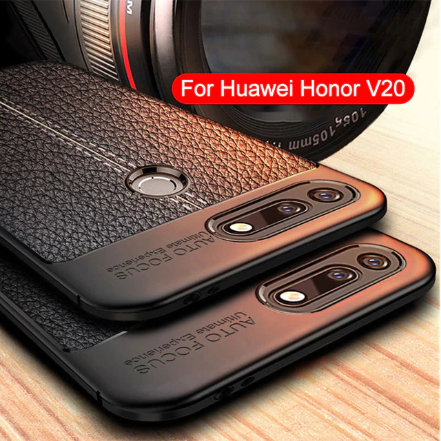 Honor View 20/V20 Auto Focus Leather Texture Case